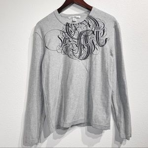 Kenneth Cole NY   Gray Sweater Pullover Sz L
